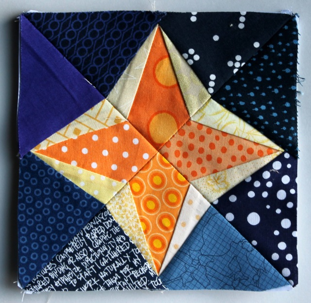 small paper pieced star block