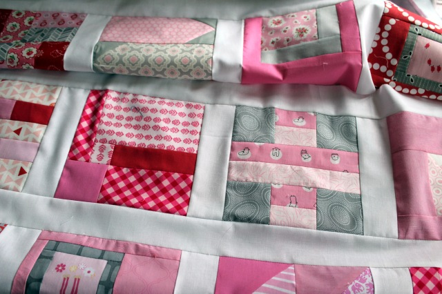 tual pink quilt top