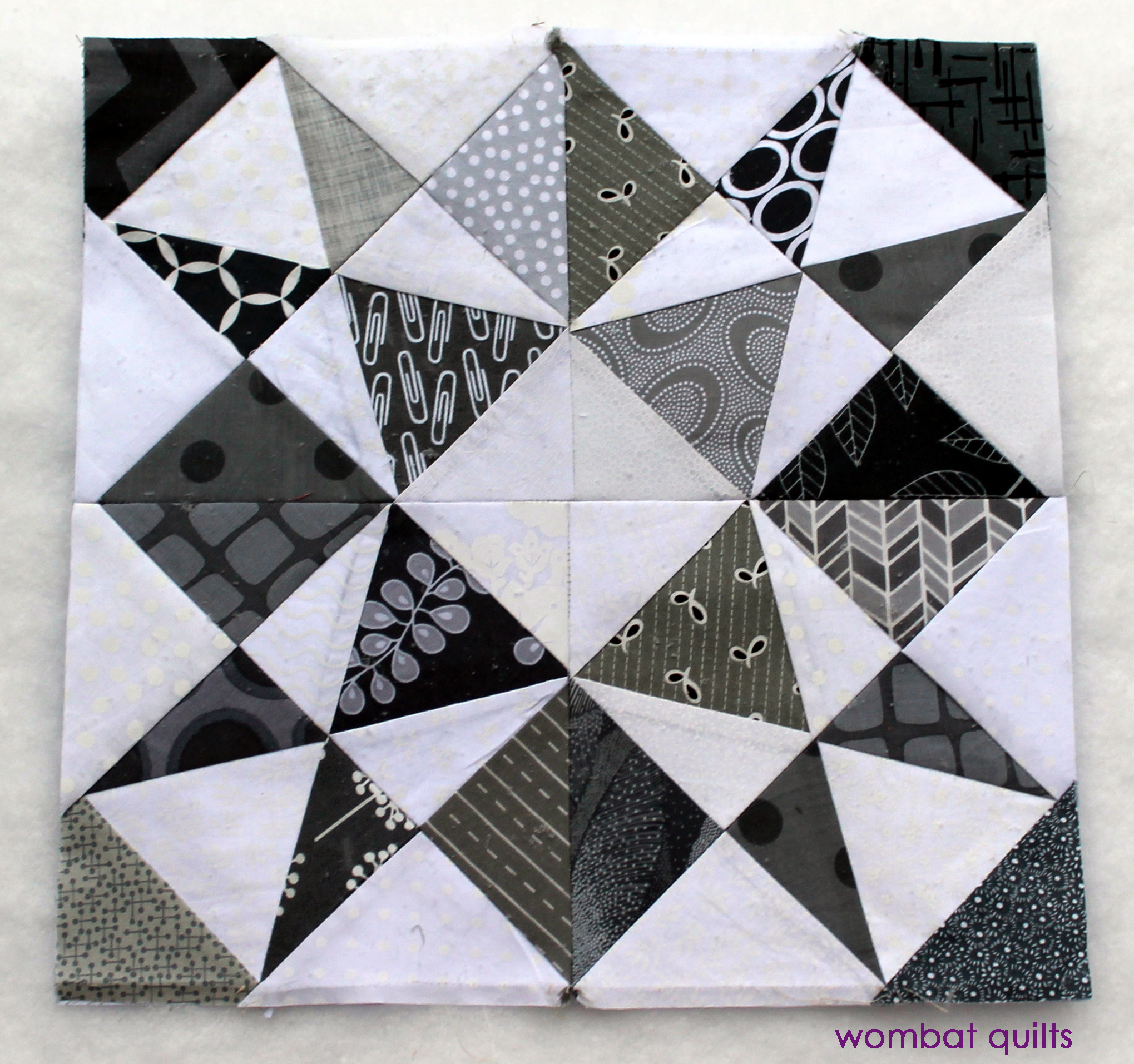 photograph about Free Printable Paper Piecing Patterns for Quilting known as Cost-free Paper Piecing Routines WOMBAT QUILTS
