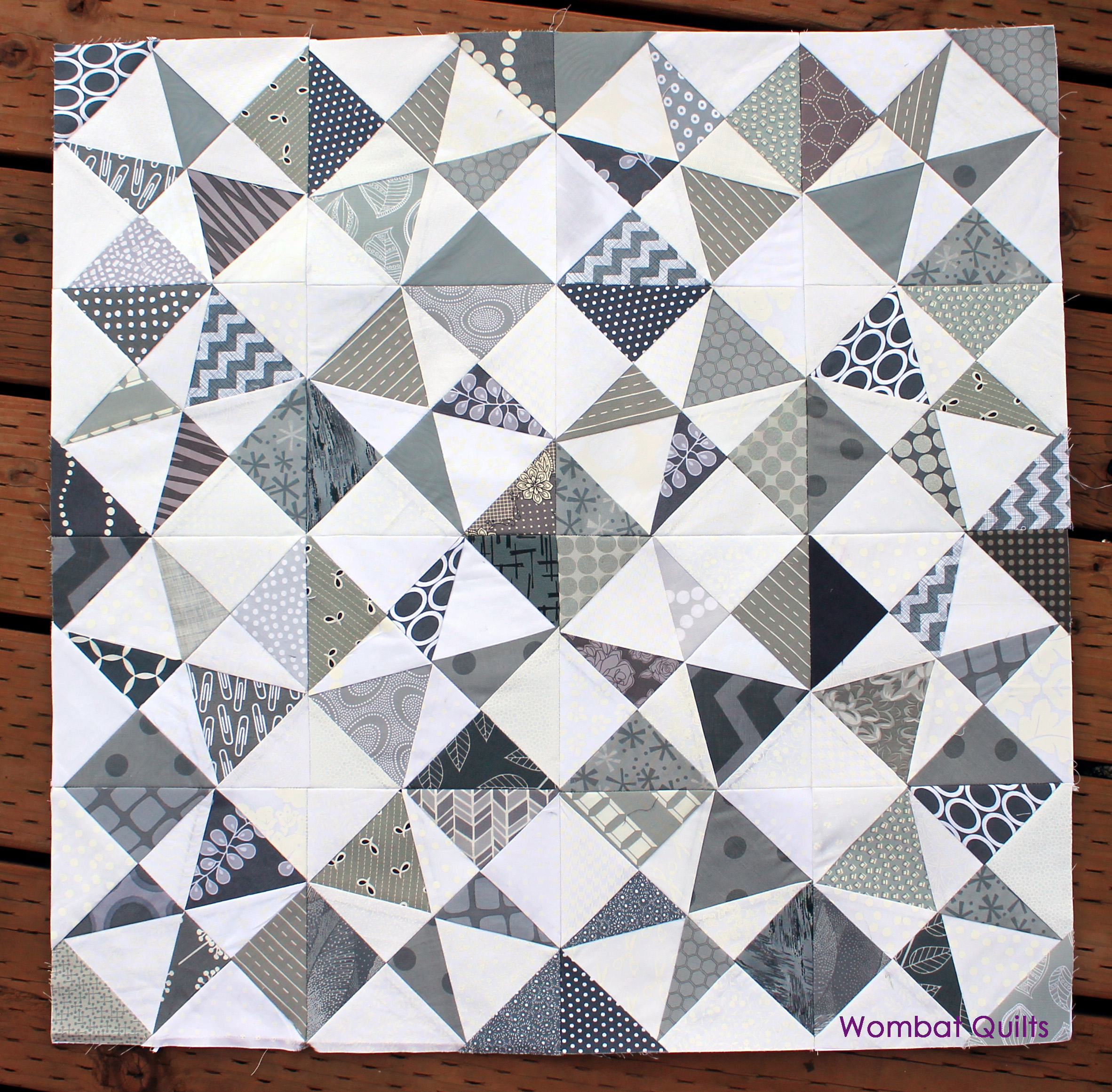 grey white quilt wombat quilts