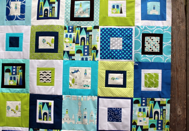 Les Monsieur quilt top detail 4