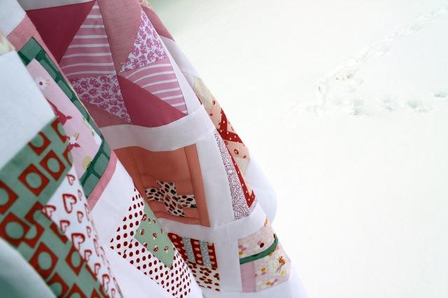 quilt top snow