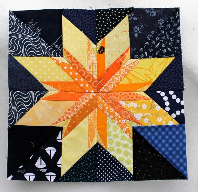paper pieced star block