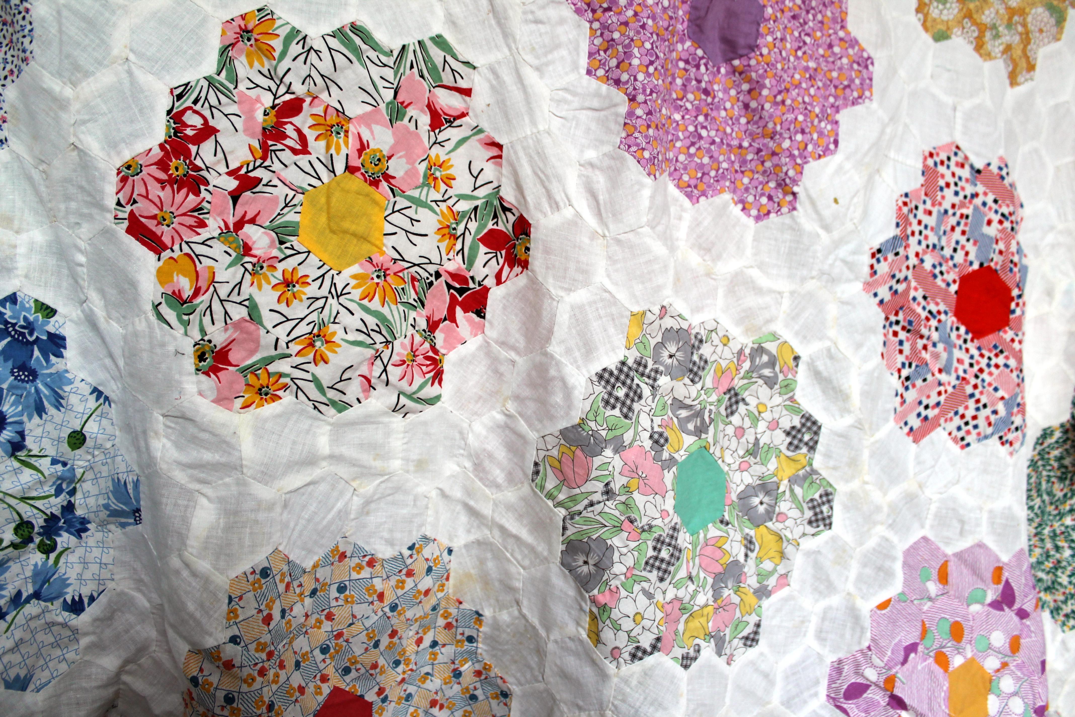 Quilting Templates Hexagon : hexagon quilt WOMBAT QUILTS