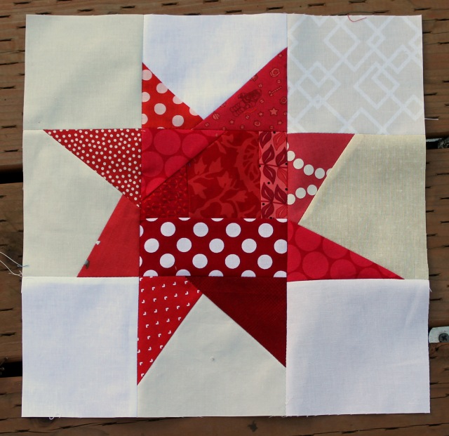 wonky star block