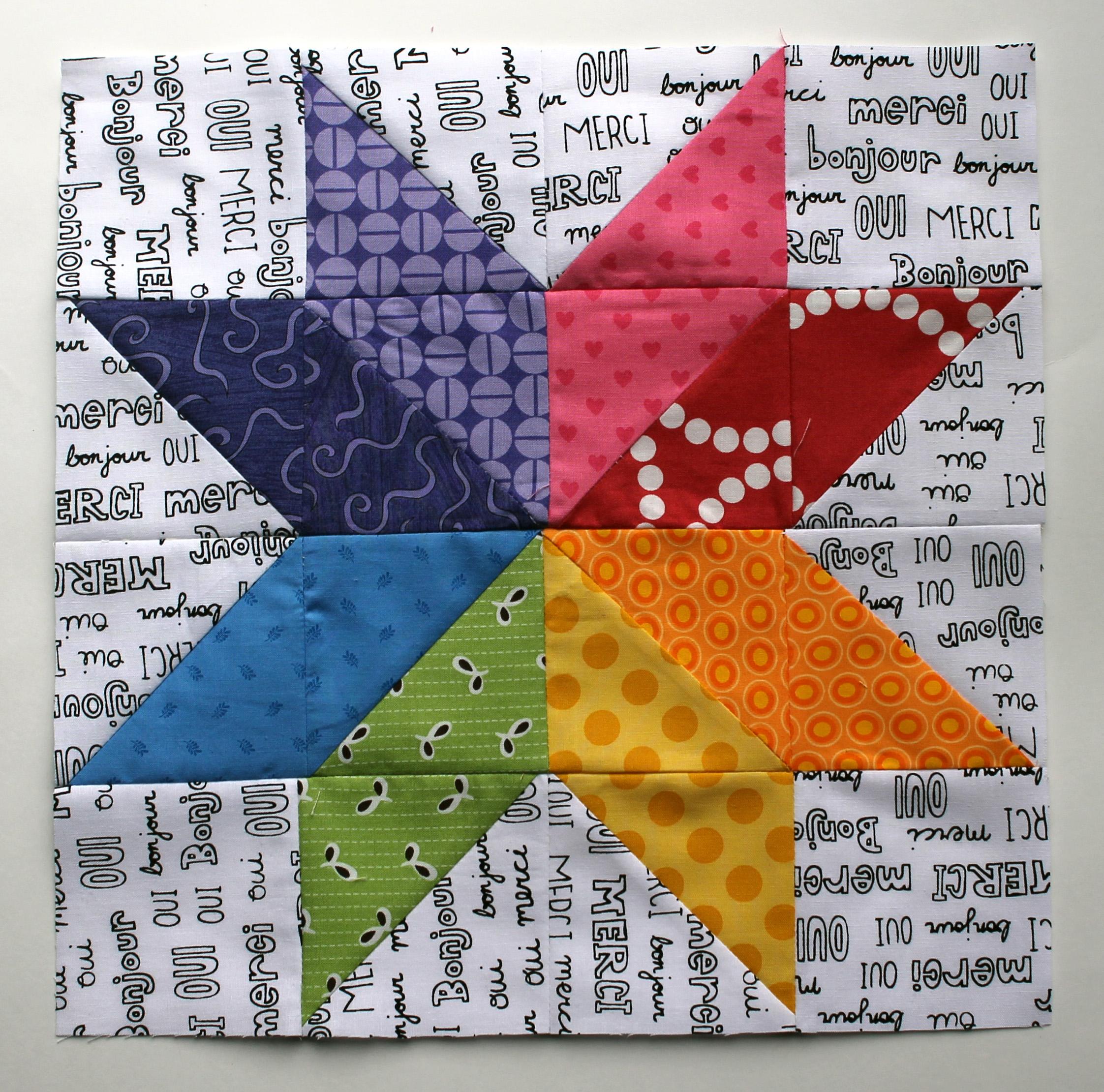 Bee blocks | WOMBAT QUILTS : star flower quilt block pattern - Adamdwight.com