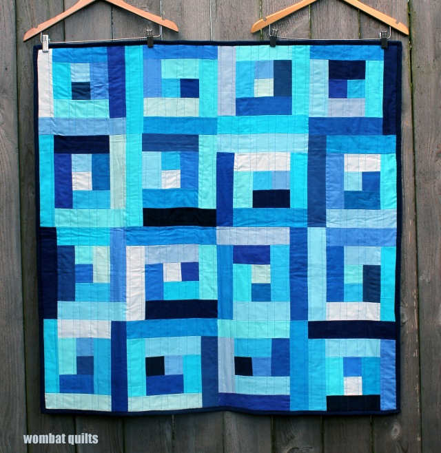 finished baby blue quilt