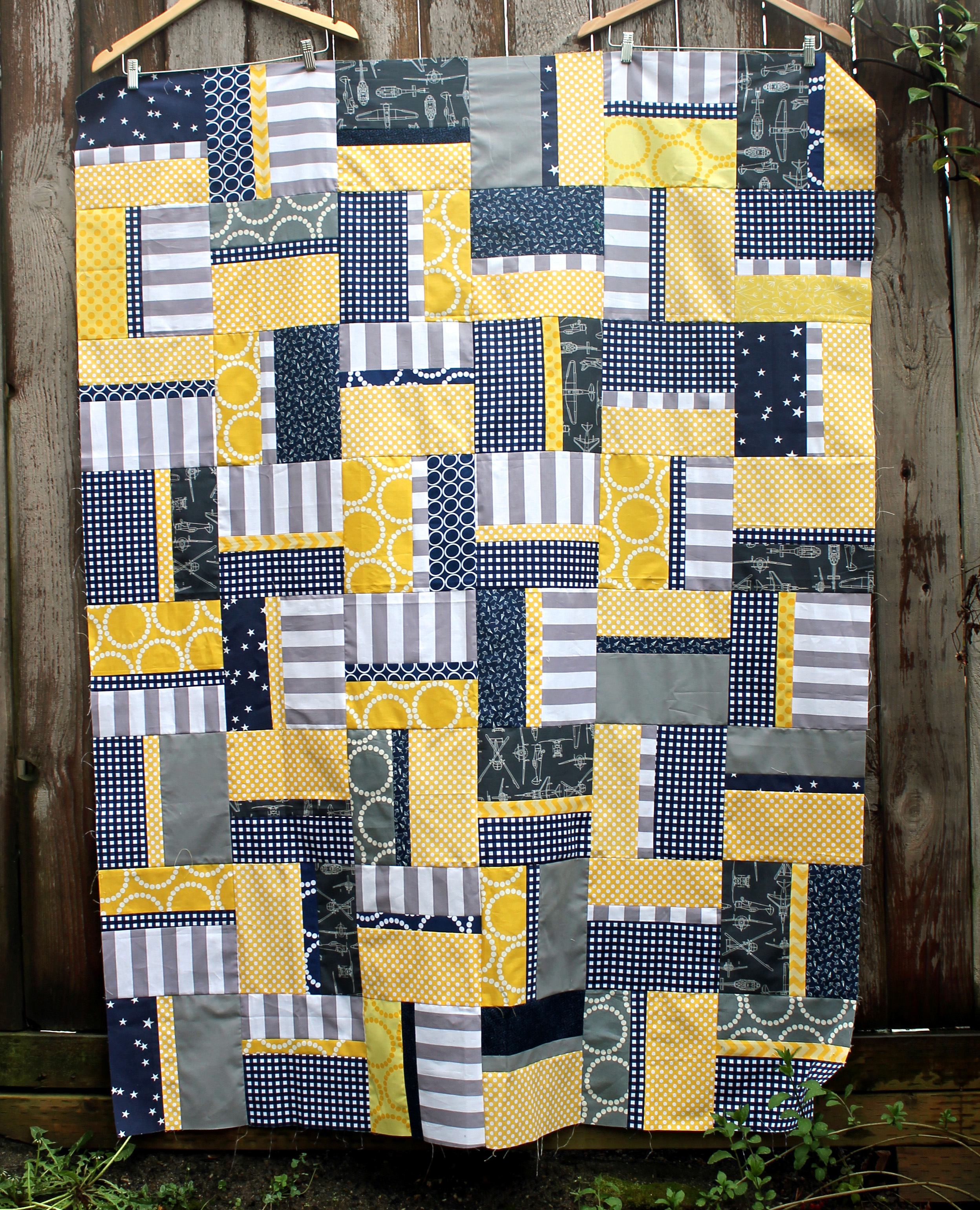 Easy Rail Fence Quilt Block Wombat Quilts