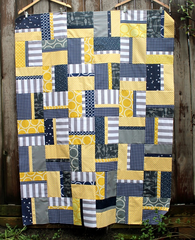 """""""Easy Rail Fence"""" a Free Charity Quilt Pattern designed by Cath from Wombat Quilts"""