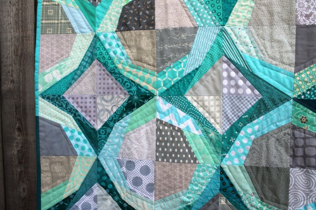 finsihed icicles quilt detail