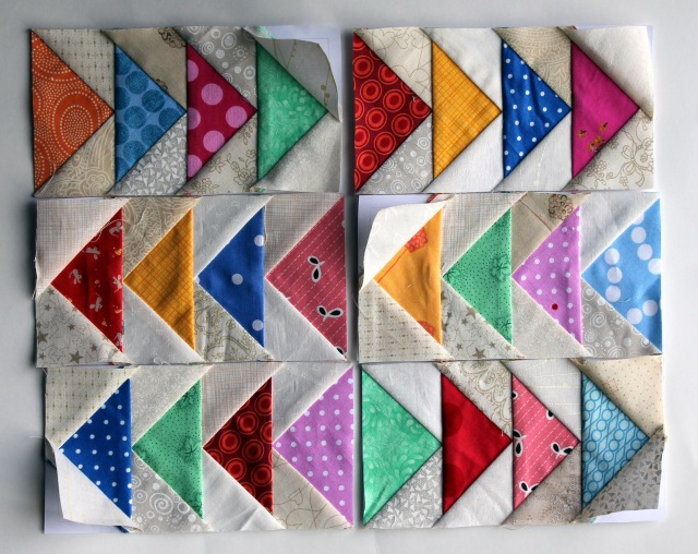 flying geese blocks