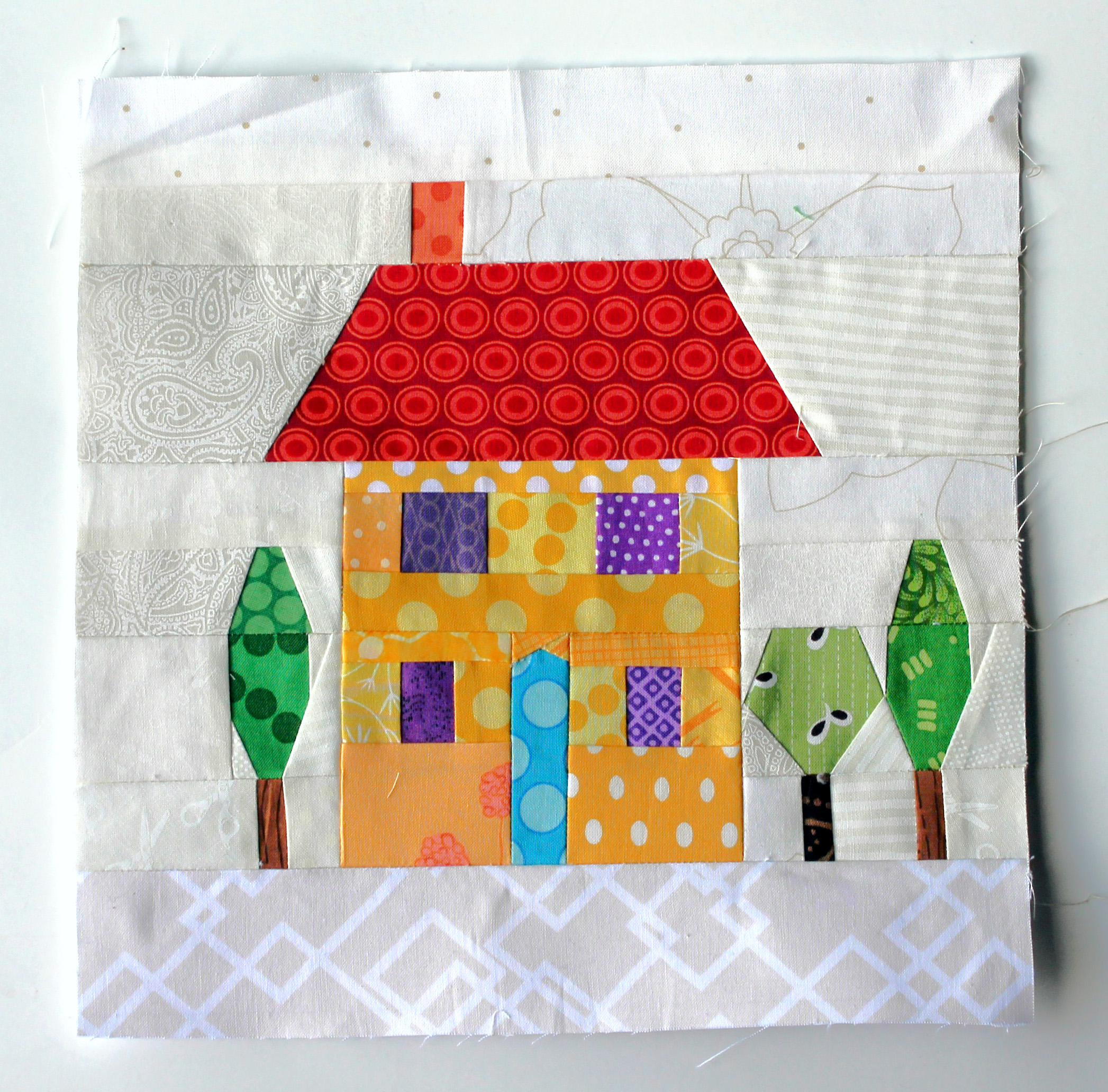 A new paper piecing obsession wombat quilts for House pattern