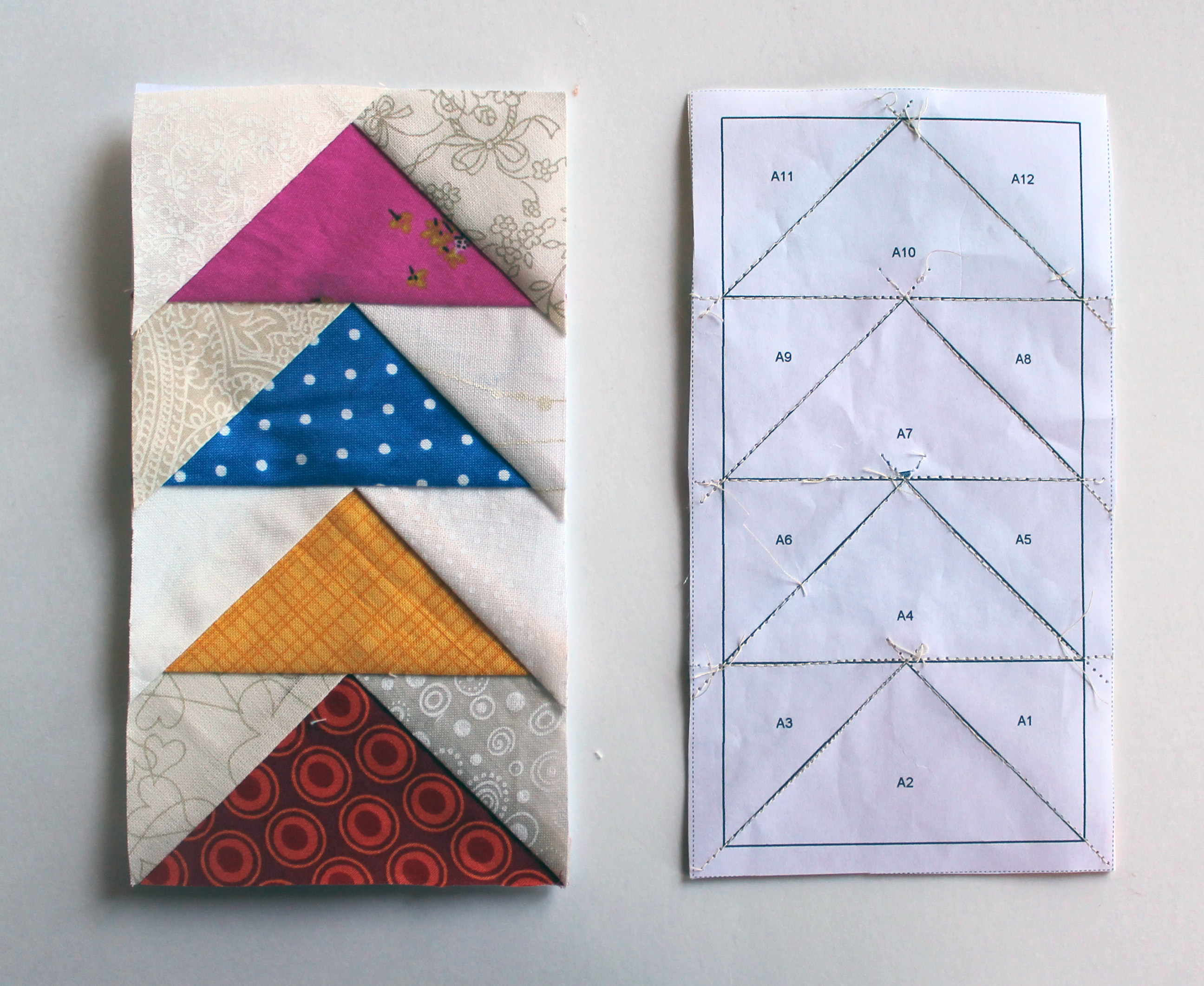 paper piecing quilts Foundation pieced quilts, sometimes called paper pieced quilts, are made by sewing pieces of fabric onto a temporary or permanent foundation --- quiltingaboutcom paper piecing.