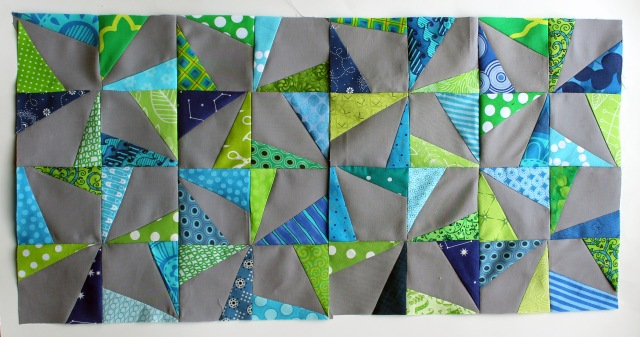 Pinwheel blocks