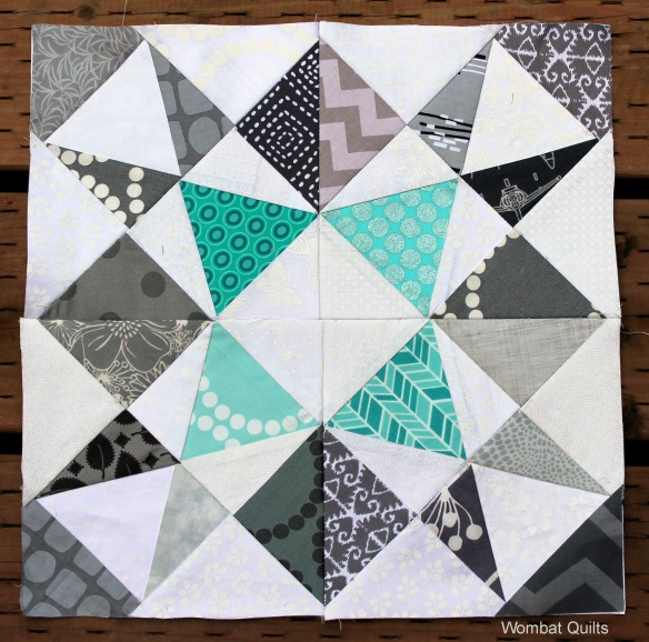 paper pieced quilt block