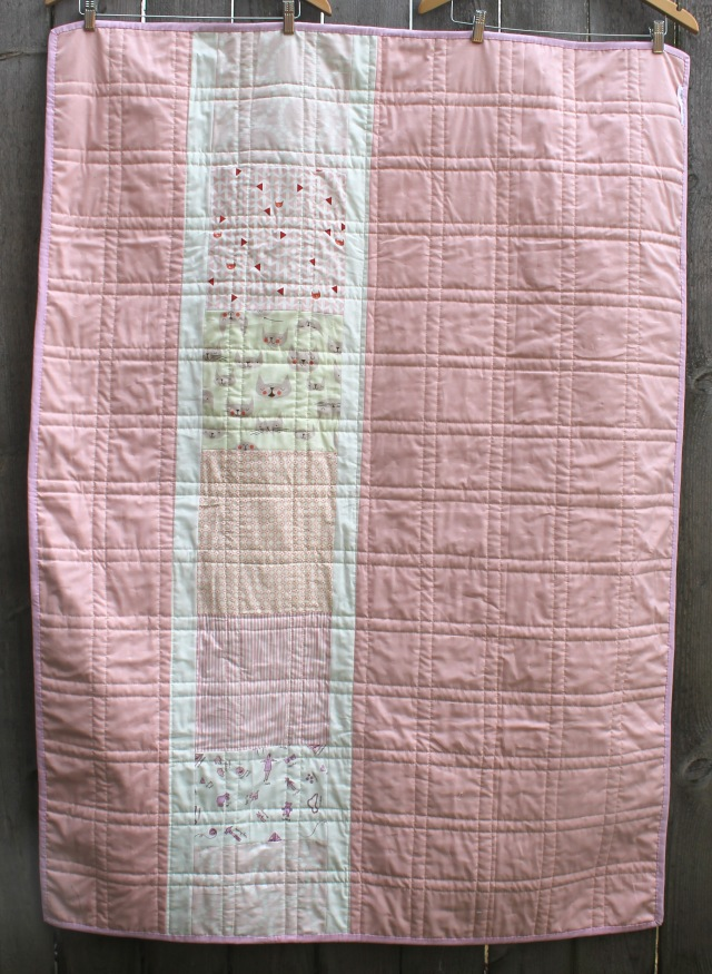 low volume quilt back