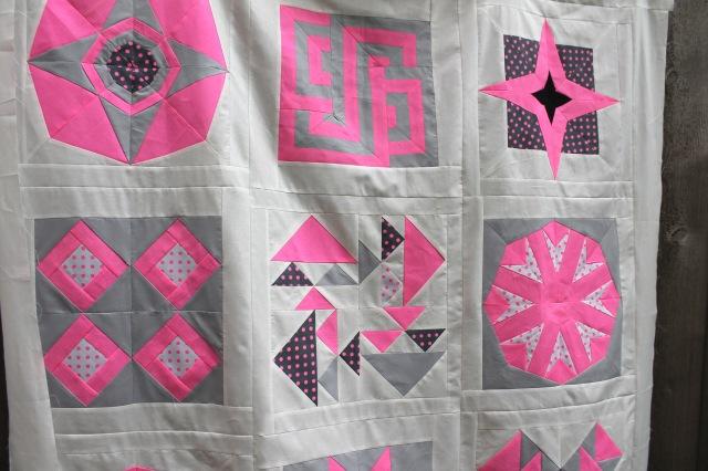Neon quilt detail 3