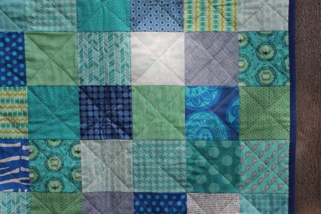 simple patchework quilt detail