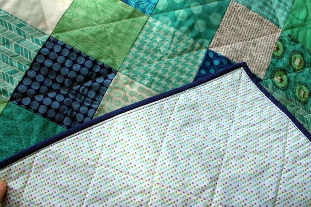 simple patchwork backing