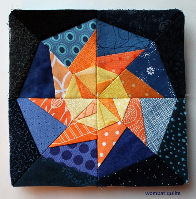 Lucky Star pinwheel block