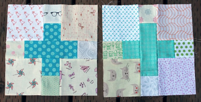 scrap cross quilt blocks