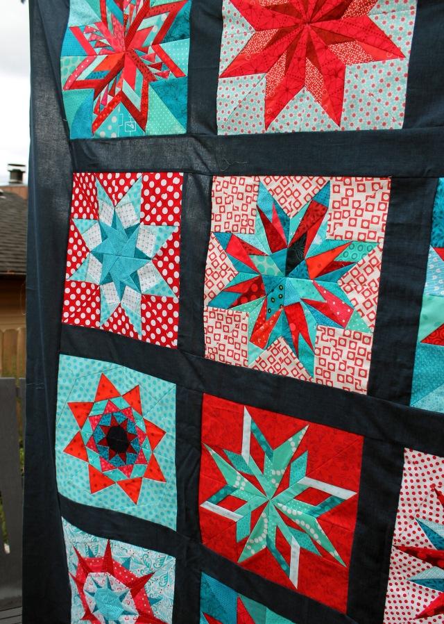 star quilt top detail