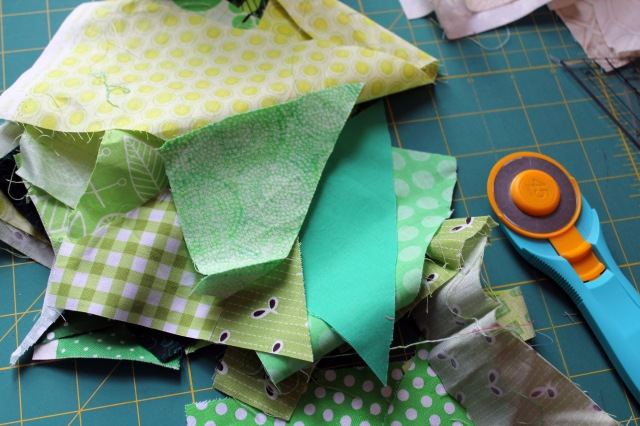 start with a pile of scraps