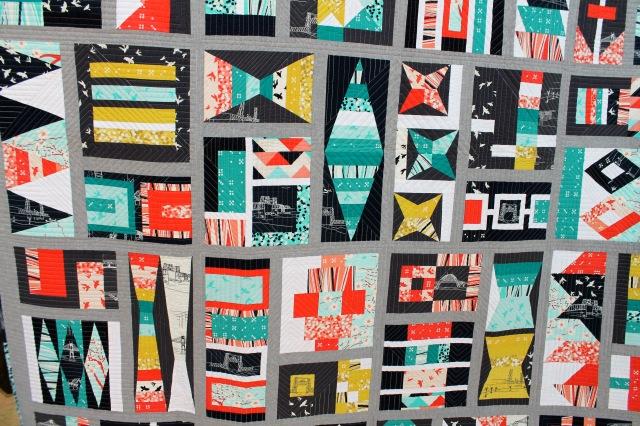 Elizabeth Hartman's sampler quilt