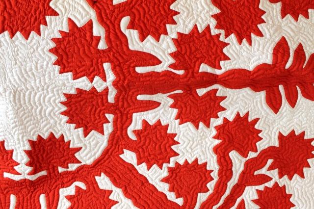 Hawaiian quilt detail