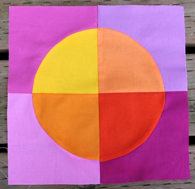 orange circle block