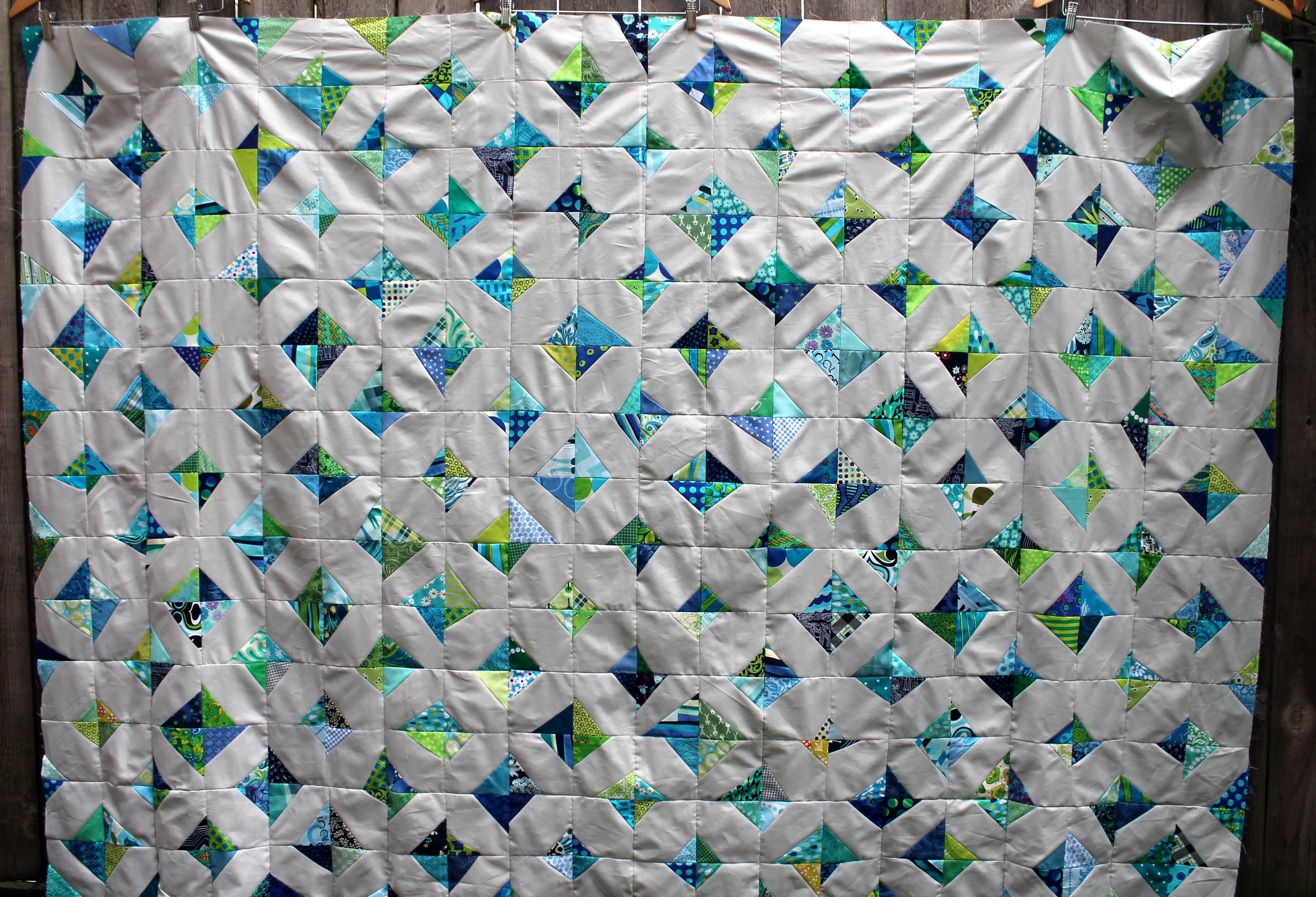 wonky kite quilt
