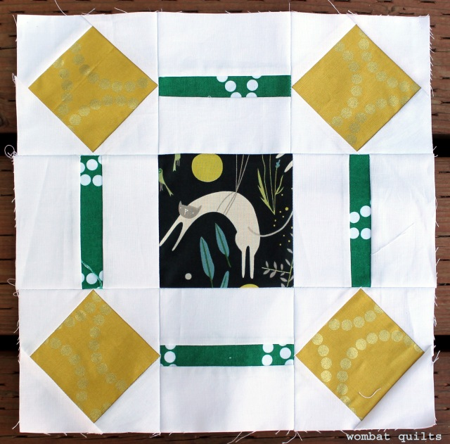 Kitty corner quilt block