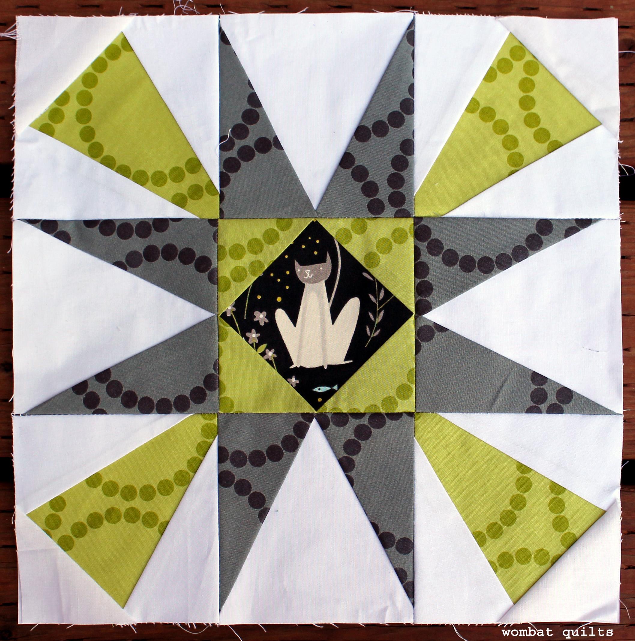 Starflower Quilt block | WOMBAT QUILTS : star flower quilt block pattern - Adamdwight.com