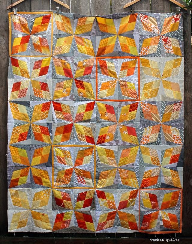 scrap quilt top