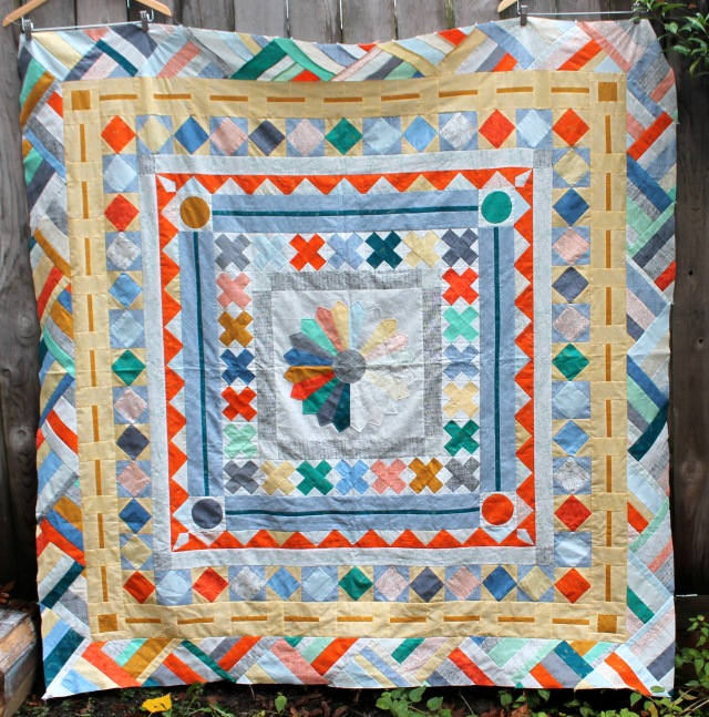 PMQG Medallion quilt top