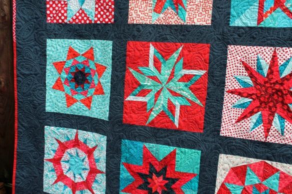 Red star quilt detail 2