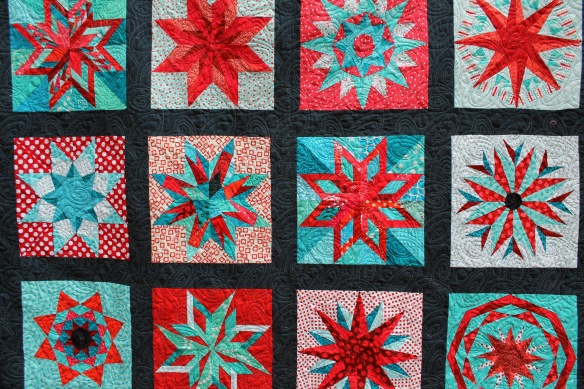 Red star quilt detail