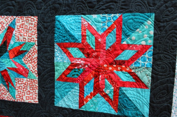 red star quilting detail