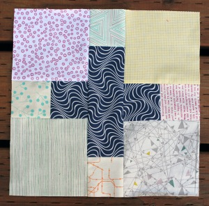 scrappy low volume quilt block