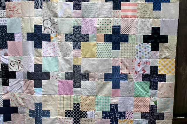 cross quilt detail