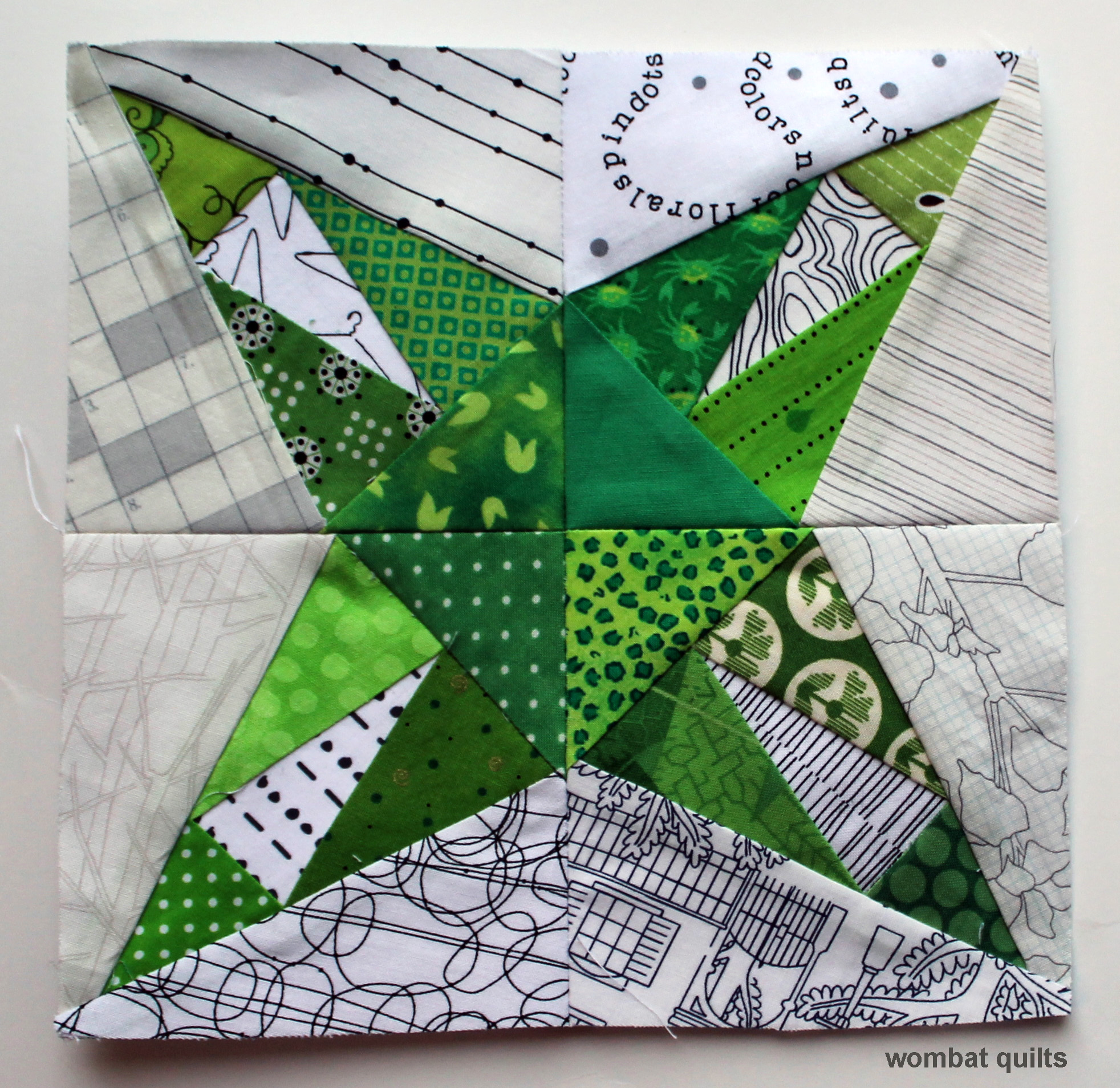 8 Inch Quilt Blocks Free Patterns : 8 inch star block WOMBAT QUILTS