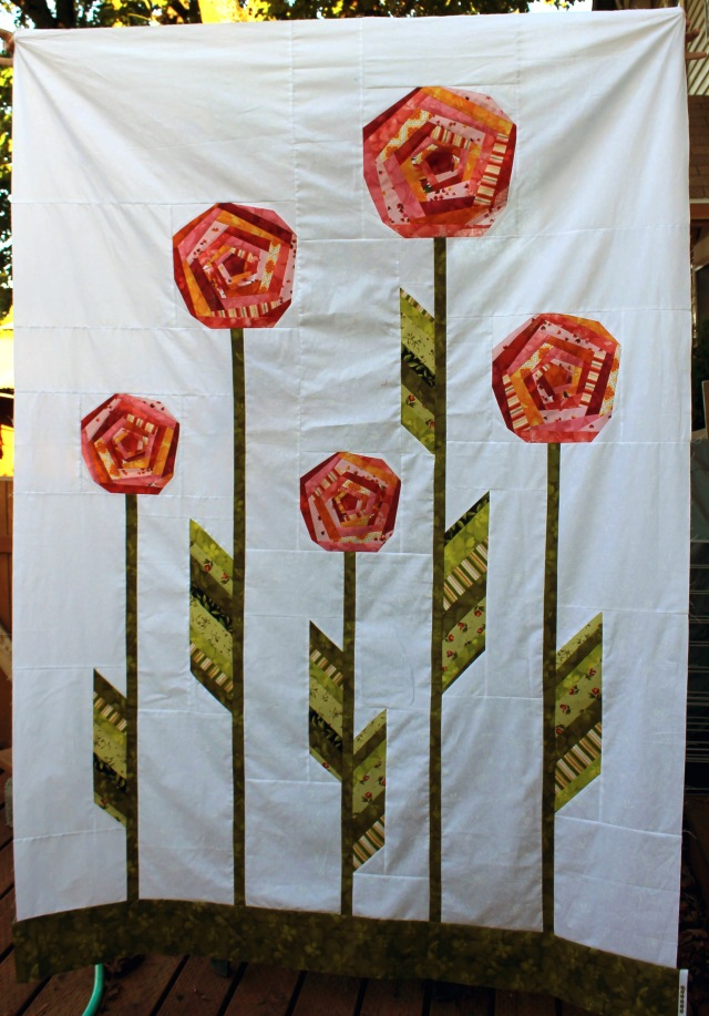 finished bloomin quilt top