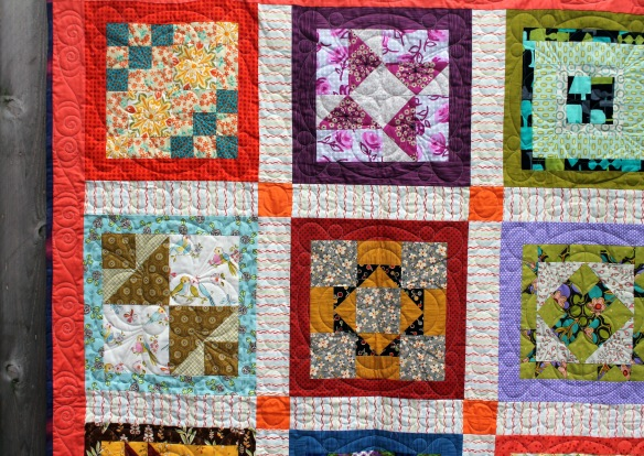 charity quilt detail
