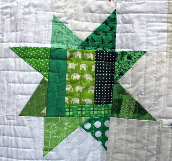 green block detail