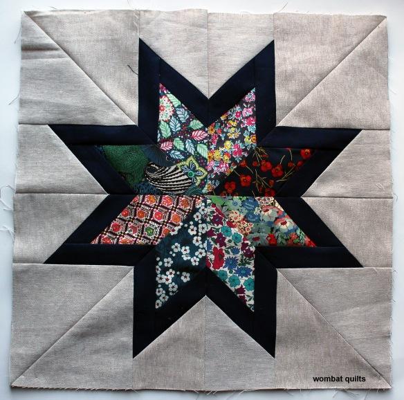 Liberty paper pieced star