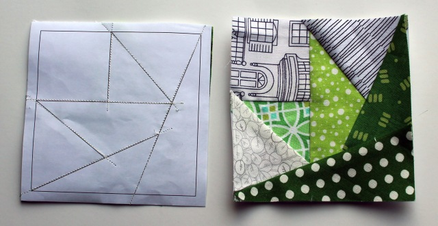 quilt block pieces