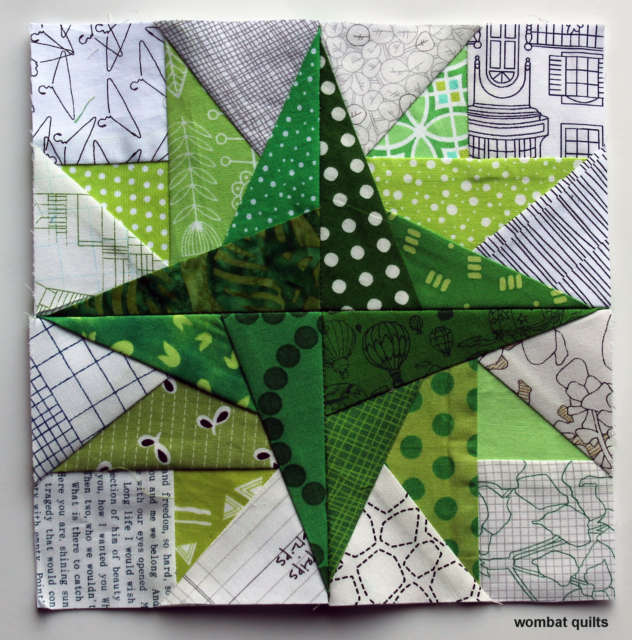 Free Paper Piecing Patterns Quilt Blocks : ?free paper piecing pattern? WOMBAT QUILTS