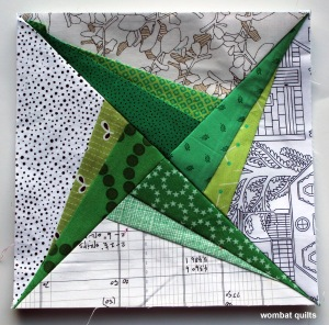 swirling star quilt block