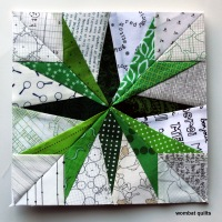 A spikey little paper piecing Monday...