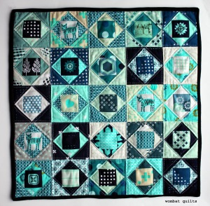 Economy block mini quilt copy